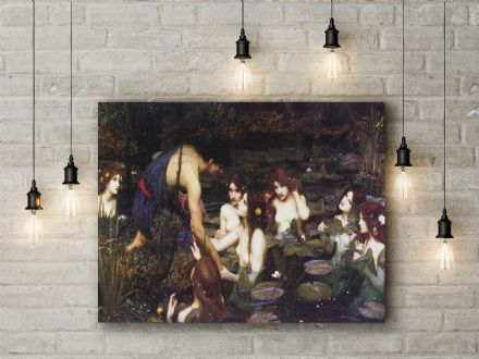 John William Waterhouse: Hylas and the Nymphs. Fine Art Canvas.